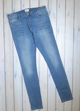 💥1+1=3 фирменные узкие зауженные джинсы скинни стрейч only, размер 48 - 50