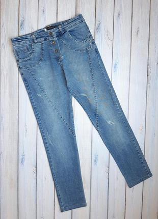 💥1+1=3 женские фирменные зауженные узкие джинсы, размер 44 - 46, италия