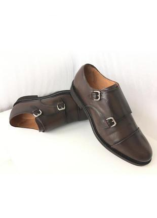 Мужские фирменные кожаные туфли massimo dutti ( испания ) 44 - 45 размер