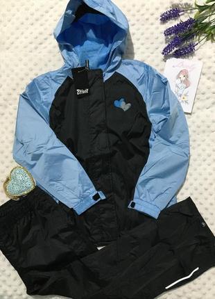Sale!костюм-дождевик crivit, грязепруф, куртка+штаны, комплект германия 6-8лет