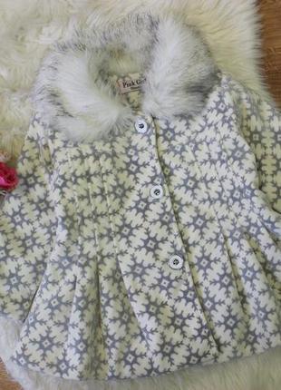 Шикарное пальтишко pink girl 18мес до 2хлет