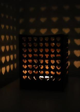 Підсвічник дерев'яний, домашній декор,серця, подсвечник деревянный, домашний декор,сердца