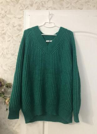 Объемный вязаный свитер v by very, новый!