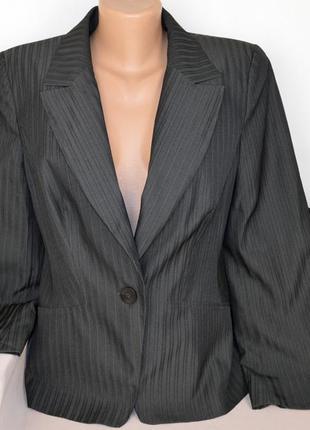Брендовый серый пиджак жакет блейзер в полоску george бангладеш этикетка