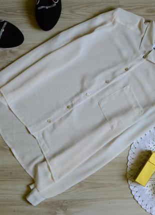 Блуза молочного кольору з кармашком new look