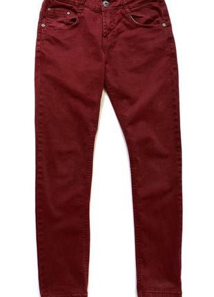 Бордовые котоновые брюки glo story, 140 см