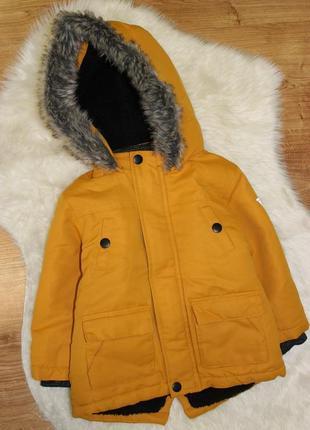 Шикарная куртка парка primark 12-18мес