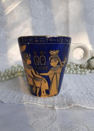 Чашка кофейная египет пирамиды фарфоровая с деколью с клеймом