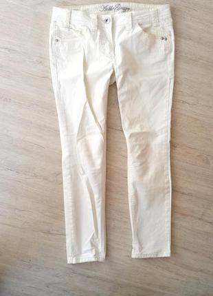 Белые штаны, котоновые брюки