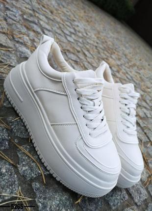 ❤ женские белые зимние кроссовки ❤