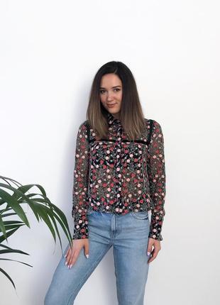 Блуза-сетка с вышивкой topshop