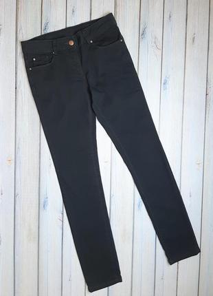 💥1+1=3 базовые темно-серые зауженные узкие джинсы скинни ovs, размер 44 - 46