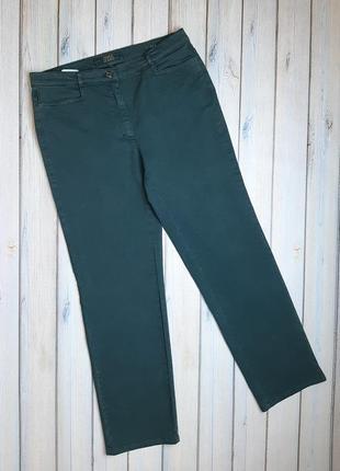 💥1+1=3 изумрудные прямые джинсы с эффектом утяжки zerres, размер 50 - 52