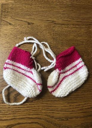 Носки вязанные пинетки
