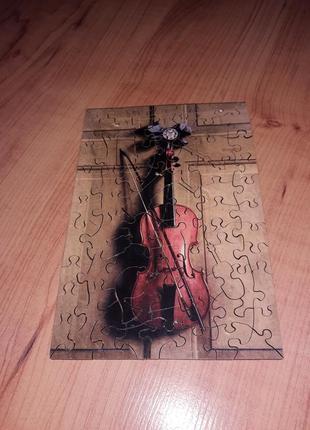 Пазлы деревянные музыкальные инструменты
