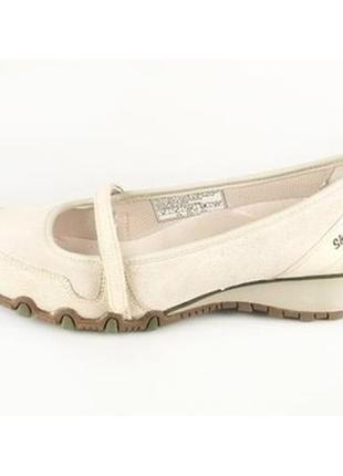Кожаные туфли мокасины skechers. оригинал.