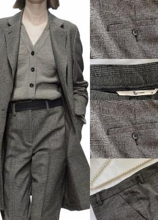 Фирменные стильные качественные удобные брюки в клетку тренд сезона