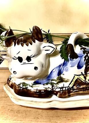 Масленка польша 🇵🇱 фарфор  декор кухня керамика ручная роспись
