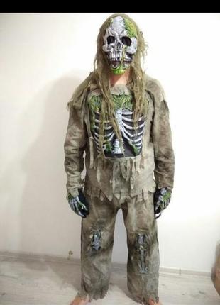 Костюм скелета костюм для хэллоуин.