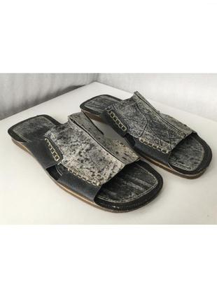 Мужские кожаные шлепанцы вьетнамки сандалии fleximax (испания) 42 размер