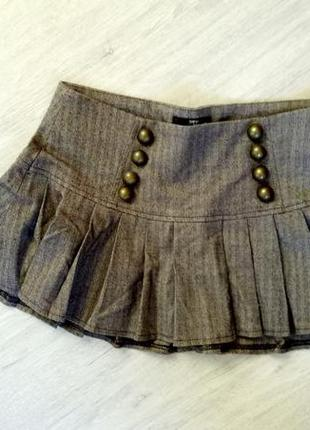 Короткая юбка плиссированная
