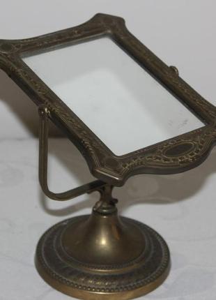 Настольное зеркало stilars (латунь, италия)