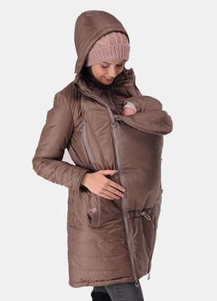 Слингокурточка куртка для беременных 3 в 1 зимнее пальто love & carry