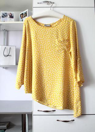 Милая желтая блуза в яблоки от wallis
