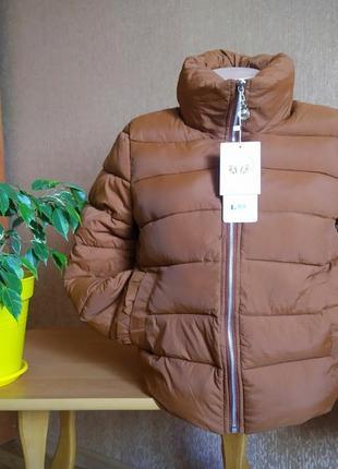 Женская демисезонная куртка коричневая