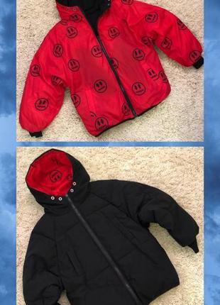Двусторонняя трендовая куртка оверсайз