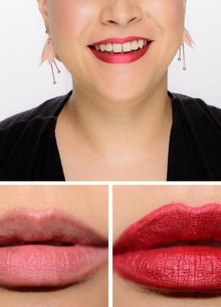 Sephora/cream lip stain/червона помада/красная помада/матова помада/помада-металік
