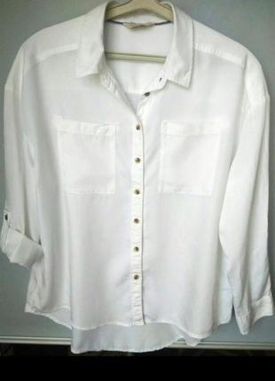 Стильная рубашка оверсайз с карманами, сорочка, блузка, бойфренд, прямая