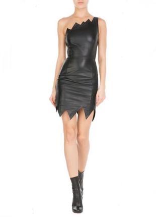 Роскошное кожаное платье moschino, xs-s, оригинал