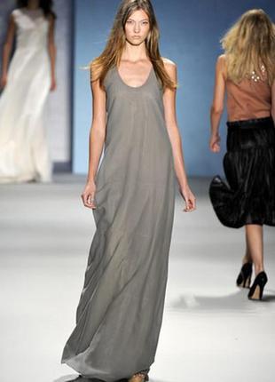 Натуральное атмосферное платье майка макси в пол хаки большой размер20, 3-4 хл 52 54