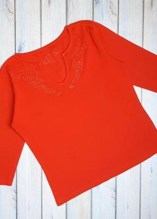 💥1+1=3 яркий оранжевый трикотажный свитер m&co, размер 46 - 48