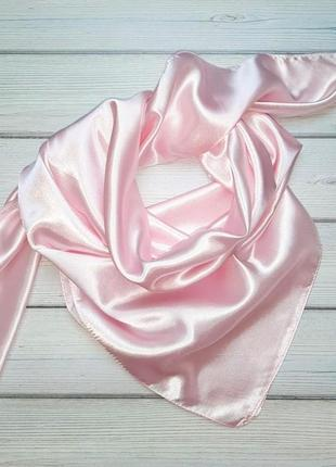 💥1+1=3 шикарный жемчужно розовый платок