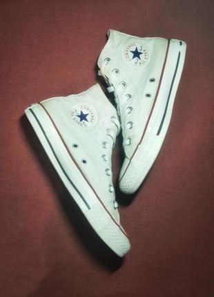 Высокое кеды converse chuck taylor all star hi optical white