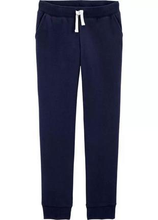 Темно-синие штанишки на флисовом начесе ошкош для девочки