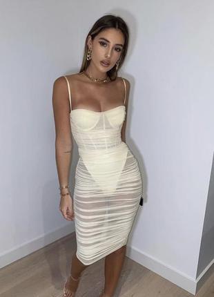 Корсетное платье сетка💛. корсетна сукня сітка oh polly1 фото