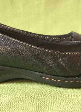 Туфли, мокасины кожаные clarks р.39, ст.26см.