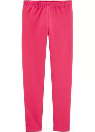 Трикотажные ярко-розовые леггинсы для девочки ошкош