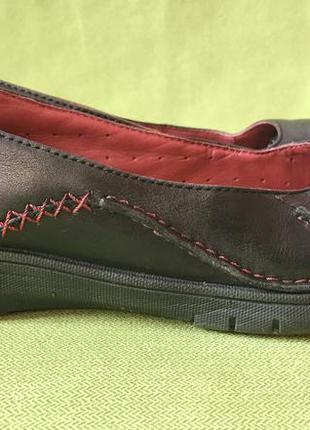 Туфли, мокасины кожаные clarks р.38, ст. 25см.