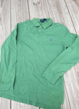 Стильное поло polo ralph lauren длинным рукавом h&m лонгслив джемпер кофта футболка