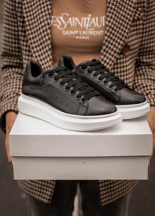 "Кожаная обувь alexander mcqueen ""black white """