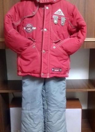 Зимние куртка с комбинезоном