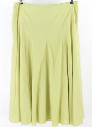 Салатовая расклешенная юбка