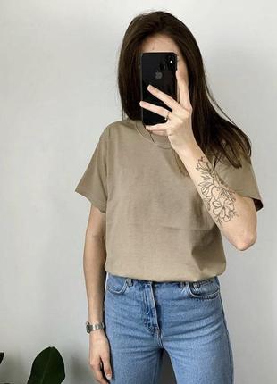 Базовая удлиненная футболка мокко