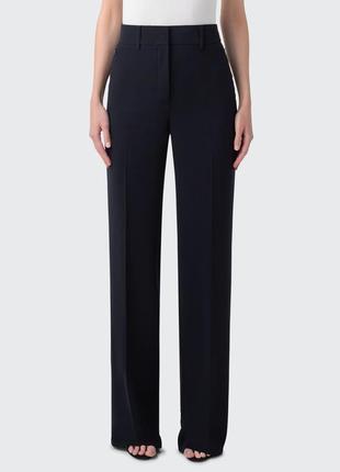 Шерстяные брюки wide leg палаццо akris