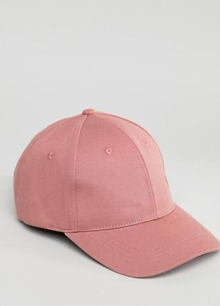 Бейсболка-кепка bershka ® plain baseball cap in pink