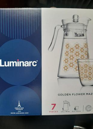 Luminarc кувшин и стаканы